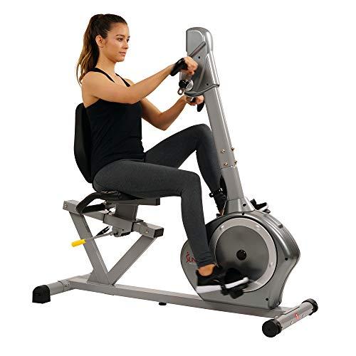 Sunny Health & Fitness Magnetic Recumbent Bike Exercise Bike,...