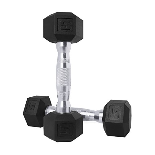 CAP Barbell SDPP-040 Color Coated Hex Dumbbell, Black, 20 pound,...
