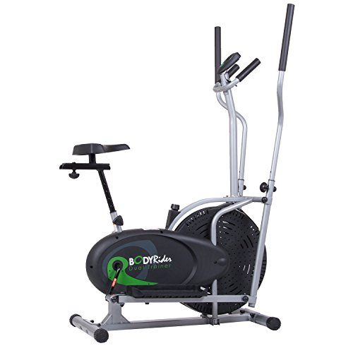 Body Rider Elliptical Trainer and Exercise Bike with Seat and...