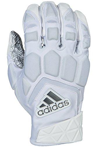 adidas Freak Max Padded Lineman Gloves, White/White, Large