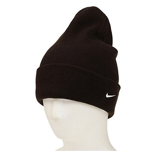 Nike Mens Stock Cuffed Knit Beanie (Black/White)