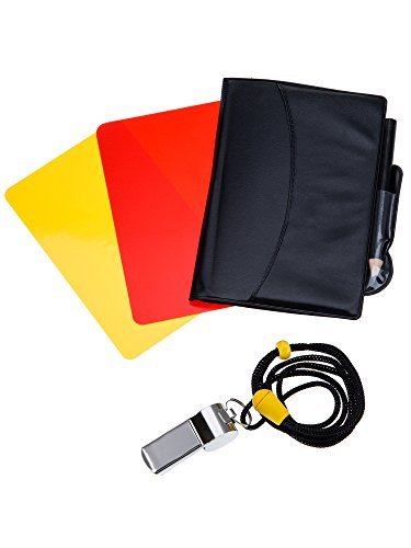 Mudder Sports Referee Card Set Red Card Yellow Card and Metal...