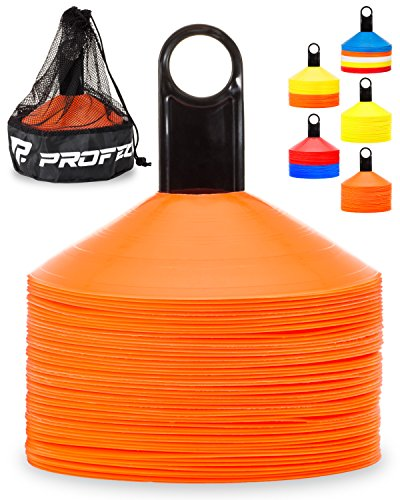 Pro Disc Cones (Set of 50) - Agility Soccer Cones with Carry Bag...