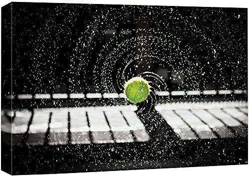 wall26 Canvas Print Wall Art Spinning Wet Tennis Ball Sports...
