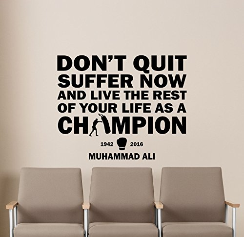 Muhammad Ali Quote Wall Decal Gym Motivational Quote Sport Boxing...