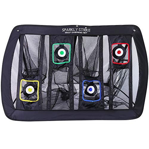 Golf Chipping Net - XL Size with 4 Targets. Practice Your...