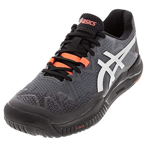 ASICS Men's Gel-Resolution 8 L.E. Tennis Shoes, 6M, Black/Sunrise...