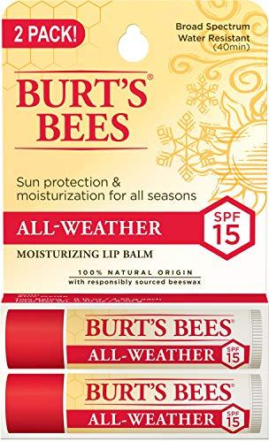 Burt's Bees 100% Natural All-Weather SPF15 Moisturizing Lip Balm,...
