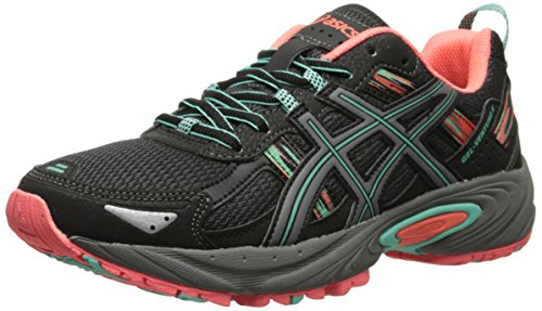 ASICS Women's Gel-venture 5 Running Shoe, Black/Aqua Mint/Flash...