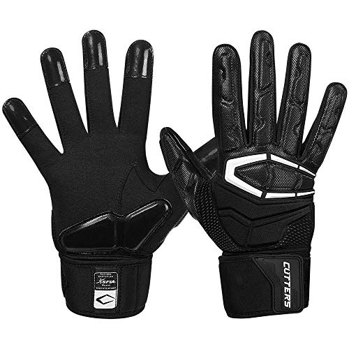 Cutters Lineman Padded Football Glove. Force 3.0 Extreme Grip...