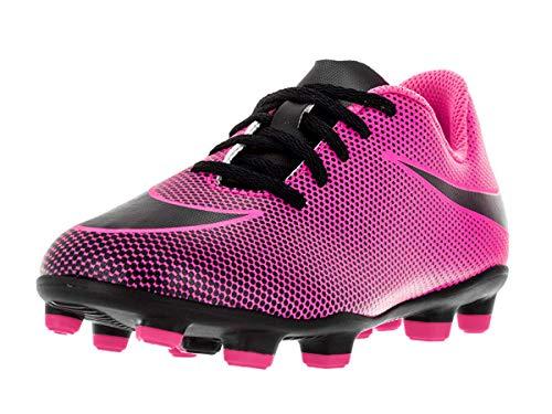 NIKE Boy's JR Bravata II FG Soccer Cleats, Pink Blast/Black, 12...