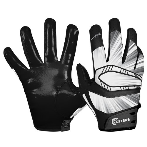 Cutters Gloves REV Pro Receiver Glove (Pair), Black, Small
