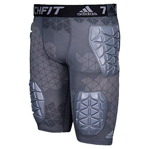 adidas Techfit Ironskin 5 Mens Padded Football Girdle, Onix-Light...