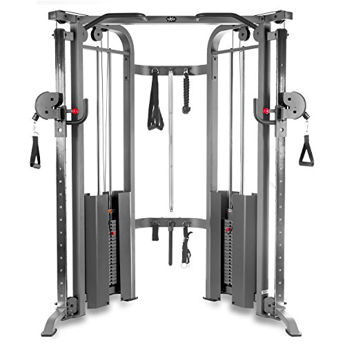 XMark Functional Trainer Cable Machine with Dual 200 lb Weight...