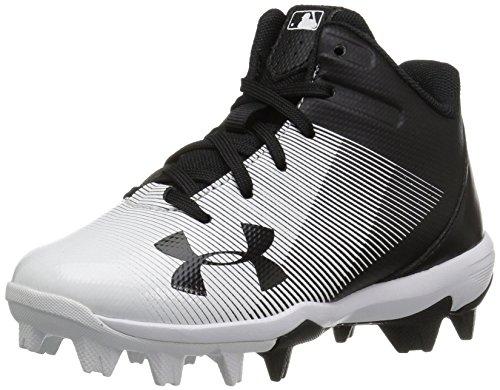 Under Armour mens Leadoff Mid Jr. Rm Baseball Shoe, Black (011...