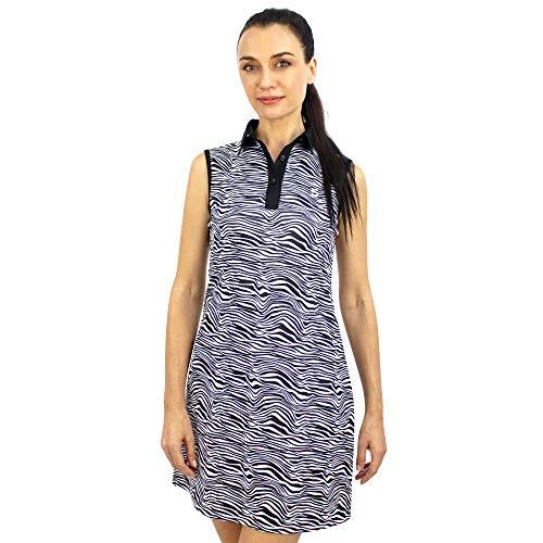 SAVALINO Women's Casual Tennis Dress XS Zebra