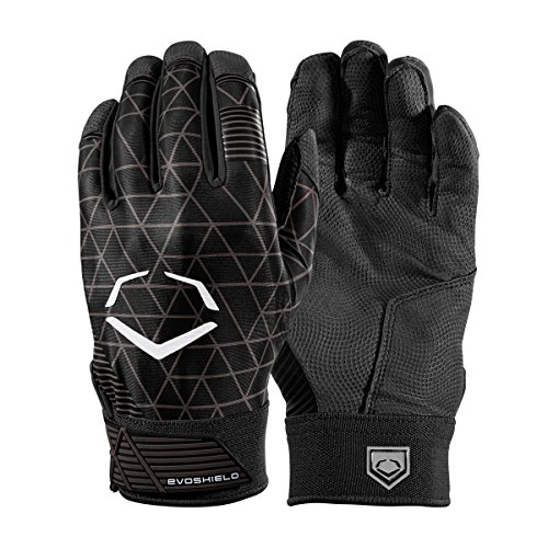 EvoShield EvoCharge Protective Batting Gloves - Large, Black