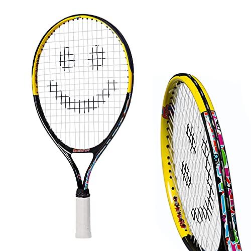 Street Tennis Club Tennis Rackets for Kids, 21-Inch, Black/Yellow