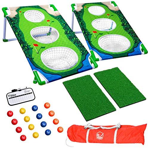 GoSports BattleChip Match Backyard Golf Cornhole Game   Includes...