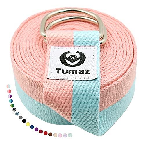 Tumaz Yoga Strap / Stretch Bands [15+ Colors, 6/8/10 Feet...