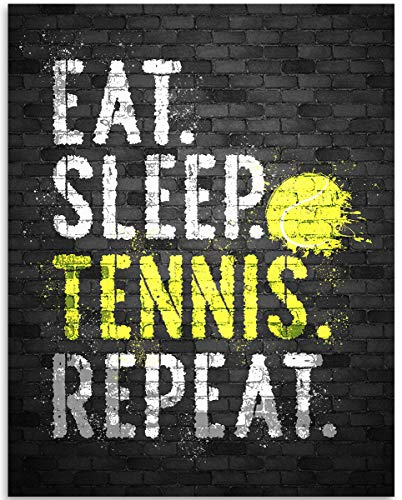 Eat Sleep Tennis Repeat - 11x14 Unframed Art Print Poster - Great...