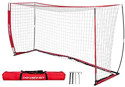 PowerNet Soccer Goal 12 x 6 | Portable Net Collapsible Metal Base...