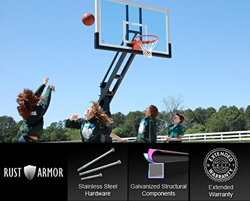 Pro Dunk Platinum with Rust Armor: In-Ground Adjustable Outdoor...