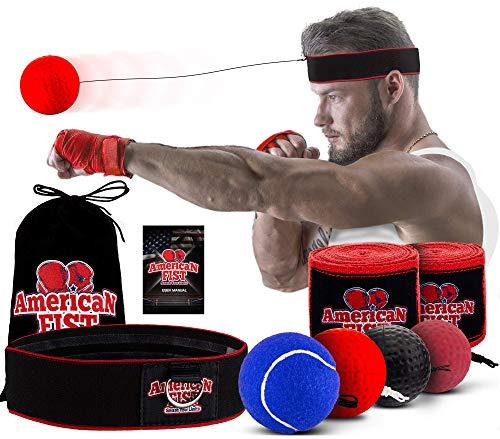 Boxing Reflex Ball Set, 4 Difficulty Level Training Balls On...