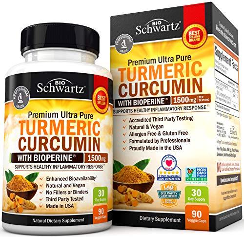 Turmeric Curcumin with BioPerine 1500mg - Natural Joint & Healthy...