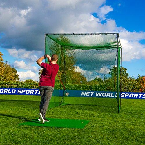 FORB Freestanding Golf Cage | Indoor Outdoor Home Driving Range...