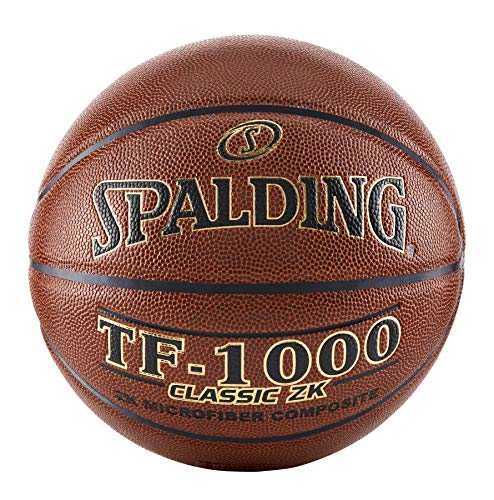 Spalding TF-1000 Classic ZK Indoor Game Basketball , Brown , Size...
