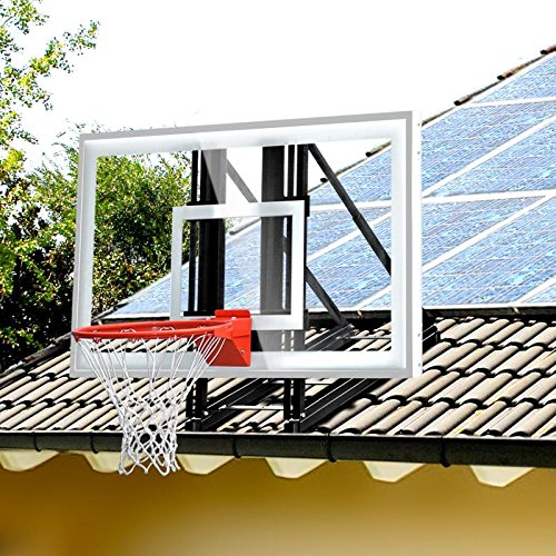 katop Garage Roof-Mount Outdoor Basketball Hoop System with 60...
