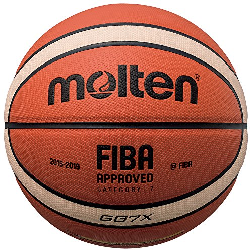 Molten BGG7X Composite Basketball, Orange/Tan, Official Size 7