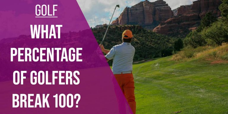 what percentage of golfers break 100?