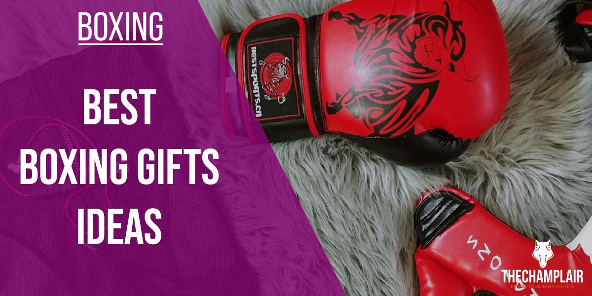 Boxing gloves on the floor