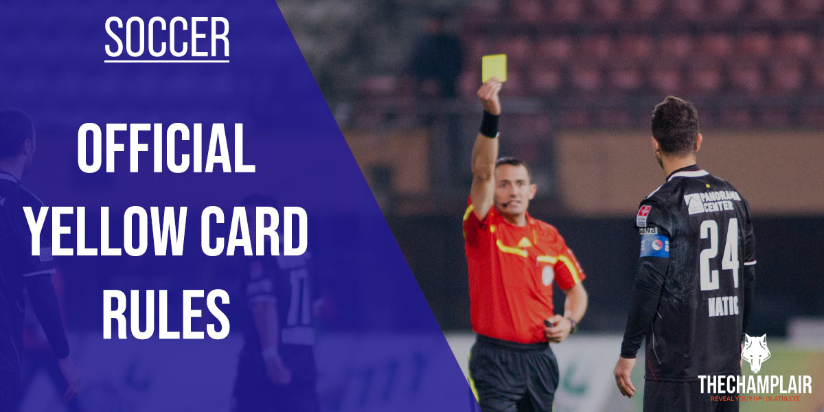 Soccer Referee with Yellow Card