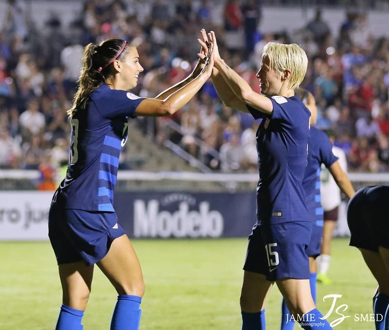 Alex Morgan & Megan Rapinoe